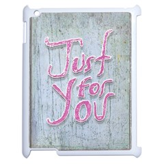 Letters Quotes Grunge Style Design Apple Ipad 2 Case (white) by dflcprints