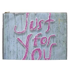 Letters Quotes Grunge Style Design Cosmetic Bag (xxl)  by dflcprints