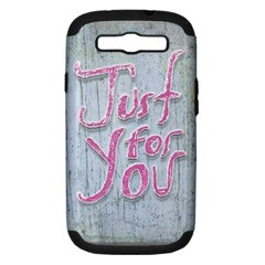 Letters Quotes Grunge Style Design Samsung Galaxy S Iii Hardshell Case (pc+silicone) by dflcprints