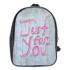 Letters Quotes Grunge Style Design School Bag (xl) by dflcprints