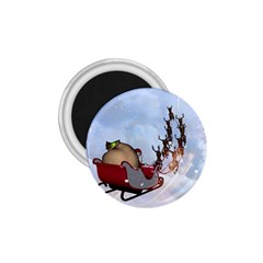 Christmas, Santa Claus With Reindeer 1 75  Magnets by FantasyWorld7