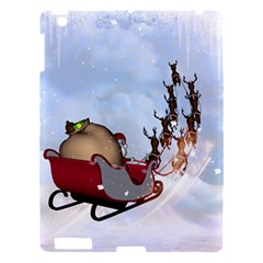 Christmas, Santa Claus With Reindeer Apple Ipad 3/4 Hardshell Case by FantasyWorld7