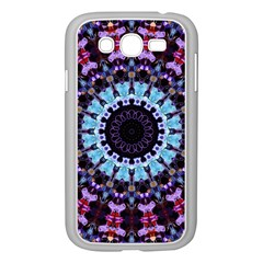 Kaleidoscope Mandala Purple Pattern Art Samsung Galaxy Grand Duos I9082 Case (white) by paulaoliveiradesign
