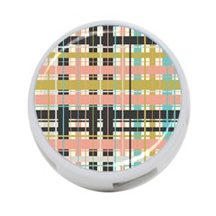 Plaid Pattern 4 Port Usb Hub (one Side) by linceazul