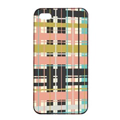 Plaid Pattern Apple Iphone 4/4s Seamless Case (black) by linceazul