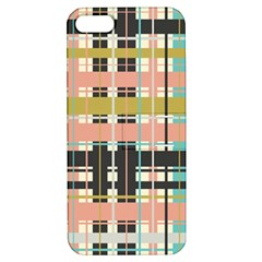 Plaid Pattern Apple Iphone 5 Hardshell Case With Stand by linceazul