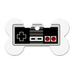 Video Game Controller 80s Dog Tag Bone (two Sides) by Valentinaart