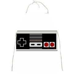 Video Game Controller 80s Full Print Aprons by Valentinaart