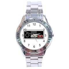 Video Game Controller 80s Stainless Steel Analogue Watch by Valentinaart