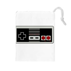 Video Game Controller 80s Drawstring Pouches (large)  by Valentinaart