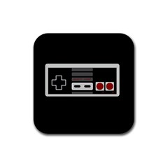 Video Game Controller 80s Rubber Square Coaster (4 Pack)  by Valentinaart
