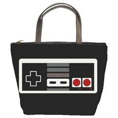 Video Game Controller 80s Bucket Bags by Valentinaart