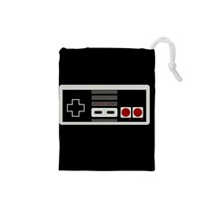 Video Game Controller 80s Drawstring Pouches (small)  by Valentinaart