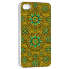 Sunshine And Flowers In Life Pop Art Apple Iphone 4/4s Seamless Case (white) by pepitasart