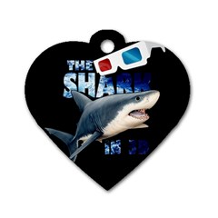 The Shark Movie Dog Tag Heart (one Side) by Valentinaart