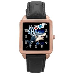 The Shark Movie Rose Gold Leather Watch  by Valentinaart