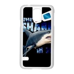 The Shark Movie Samsung Galaxy S5 Case (white) by Valentinaart