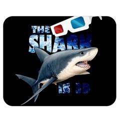 The Shark Movie Double Sided Flano Blanket (medium)  by Valentinaart