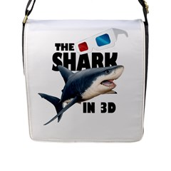 The Shark Movie Flap Messenger Bag (l)  by Valentinaart