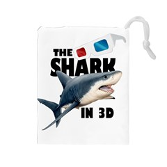 The Shark Movie Drawstring Pouches (large)  by Valentinaart