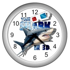 The Shark Movie Wall Clocks (silver)  by Valentinaart