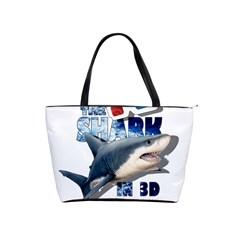 The Shark Movie Shoulder Handbags by Valentinaart