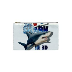The Shark Movie Cosmetic Bag (small)  by Valentinaart