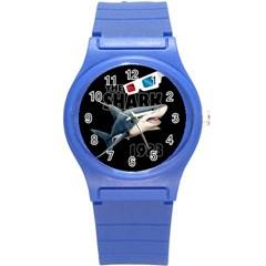 The Shark Movie Round Plastic Sport Watch (s) by Valentinaart
