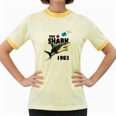 The Shark Movie Women s Fitted Ringer T Shirts by Valentinaart