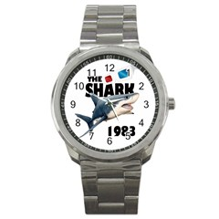 The Shark Movie Sport Metal Watch by Valentinaart