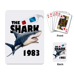 The Shark Movie Playing Card by Valentinaart
