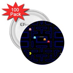 Pac Man 2 25  Buttons (100 Pack)  by Valentinaart