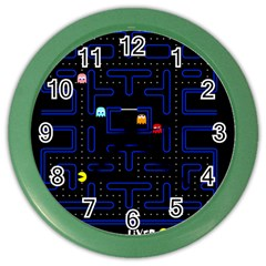 Pac Man Color Wall Clocks by Valentinaart
