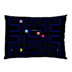 Pac Man Pillow Case (two Sides) by Valentinaart