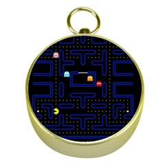 Pac Man Gold Compasses by Valentinaart