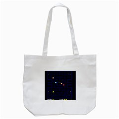Pac Man Tote Bag (white) by Valentinaart