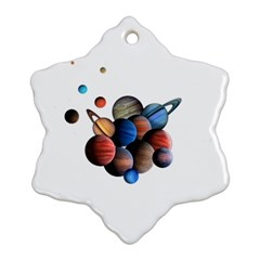 Planets  Ornament (snowflake) by Valentinaart