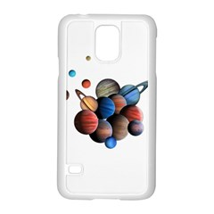 Planets  Samsung Galaxy S5 Case (white) by Valentinaart