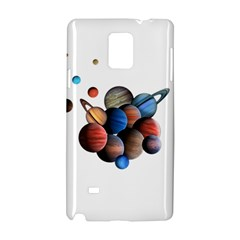 Planets  Samsung Galaxy Note 4 Hardshell Case by Valentinaart