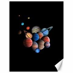 Planets  Canvas 12  X 16   by Valentinaart
