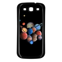 Planets  Samsung Galaxy S3 Back Case (black) by Valentinaart