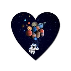 Planets  Heart Magnet by Valentinaart