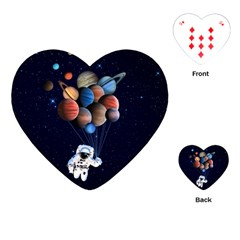 Planets  Playing Cards (heart)  by Valentinaart