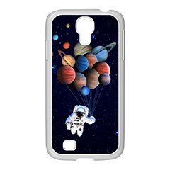 Planets  Samsung Galaxy S4 I9500/ I9505 Case (white) by Valentinaart