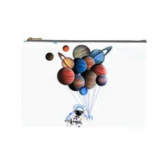 Planets  Cosmetic Bag (large)  by Valentinaart