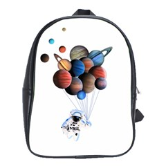 Planets  School Bag (large) by Valentinaart
