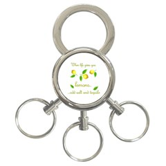 When Life Gives You Lemons 3 Ring Key Chains by Valentinaart