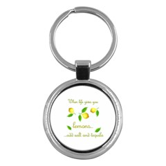 When Life Gives You Lemons Key Chains (round)  by Valentinaart