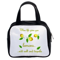 When Life Gives You Lemons Classic Handbags (2 Sides) by Valentinaart