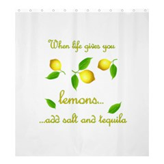 When Life Gives You Lemons Shower Curtain 66  X 72  (large)  by Valentinaart